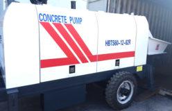 HBT60 concrete pump trailer delivery