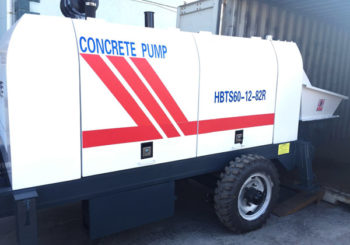 HBTS60 Concrete Pump Trailer for Sale was Delivered to Philippine