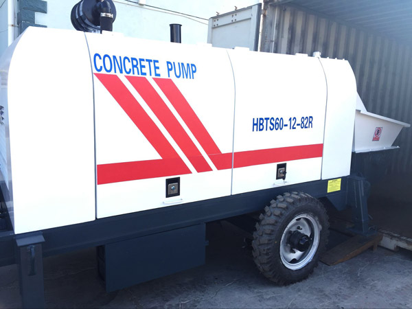 HBT60 concrete pump trailer delivery