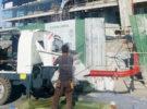 Aimix JB60R Diesel Concrete Mixer Pump Working at Philippine