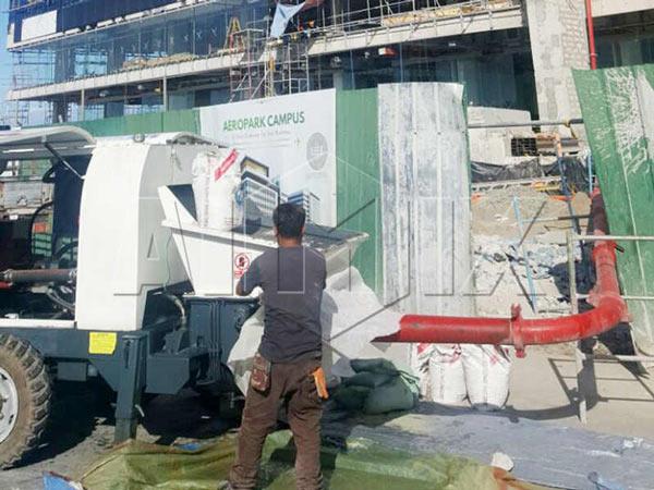 Aimix JB60 Diesel Concrete Mixer Pump Working