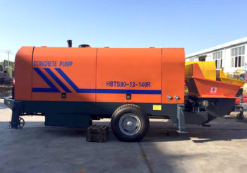 HBTS80 Concrete Trailer Pump was Sent to Vietnam