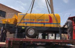 aimix hbts60 concrete pump exported
