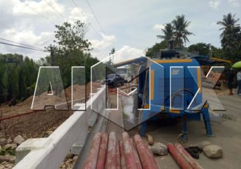 Aimix Diesel Concrete Pump Start Working in Philippines