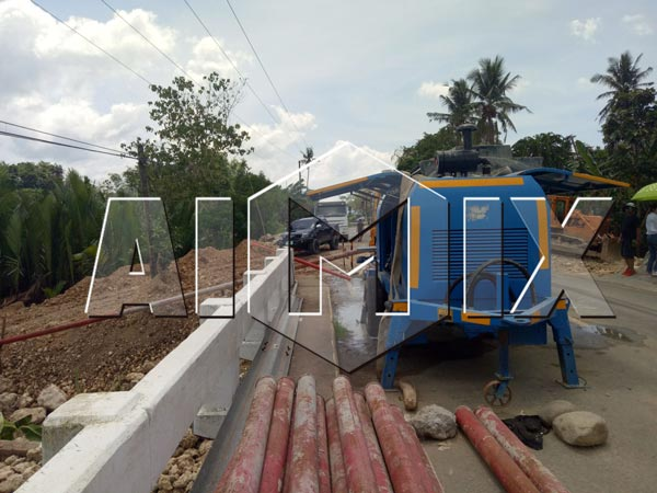 Aimix HBTS60 diesel concrete pump in Philippines