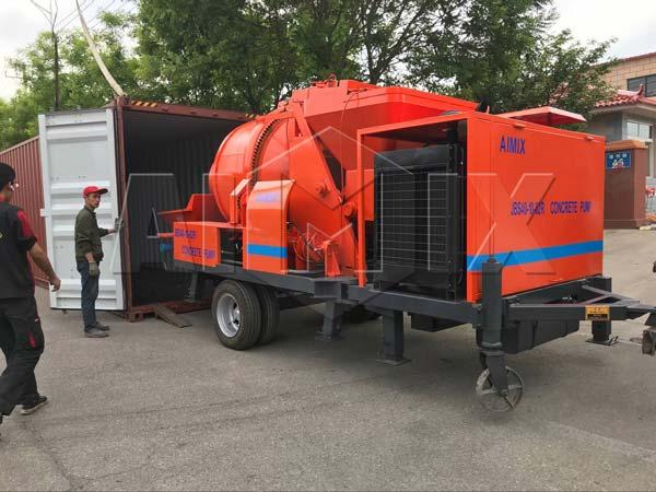Aimix concrete pump sent to Vietnam