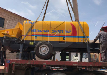 Aimix HBTS60 Trailer Concrete Pump Was Exported to Tajikistan