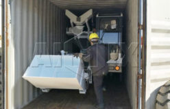 aimix self loading concrete mixer truck to Russia