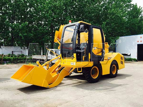 2.0 m3 self-loading concrete mixer truk