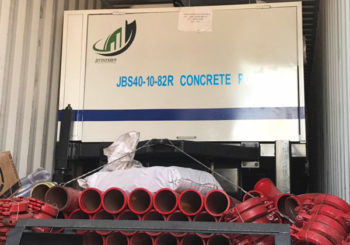 Aimix Diesel Concrete Mixer Pump Sent to Ecuador in January, 2019
