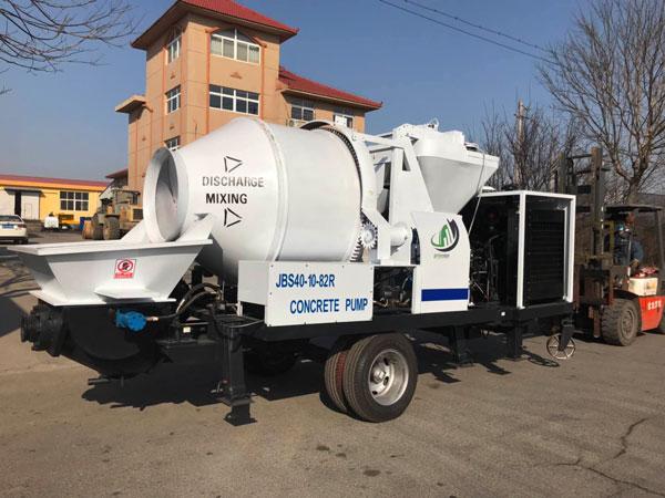 Aimix diesel concrete mixer pump to Ecuador