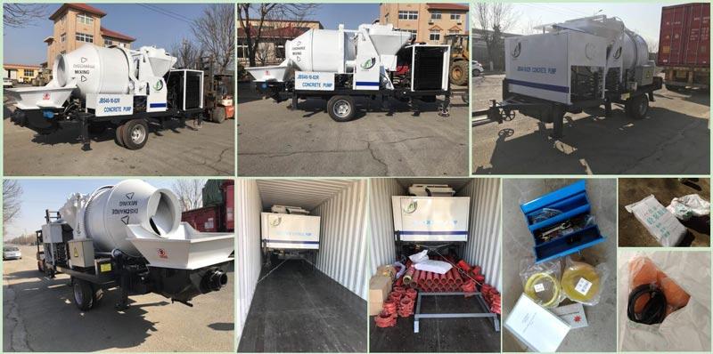 JB40 diesel concrete mixer pump loading photos to Ecuador