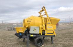 Aimix concrete mixer pump in Uzbekistan 2