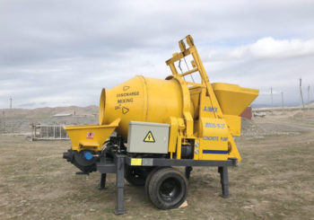 Aimix ABJZ30D Concrete Mixer Pump Set up Successfully in Uzbekistan