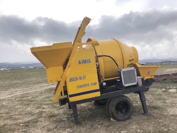 Aimix concrete mixer pump in Uzbekistan