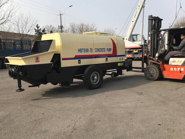Aimix HBTS90 concrete pump to Korea 2