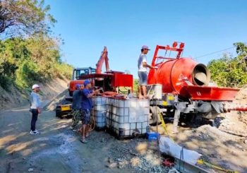 Aimix Concrete Mixer Pump Started Working in the Philippines