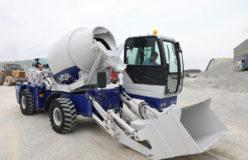 2.6 m3 self-loading concrete mixer truk