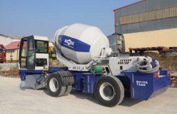 3.5 m3 self-loading concrete mixer truk