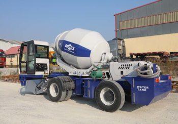 Aimix Self Loading Concrete Mixer Start Working in Myanmar