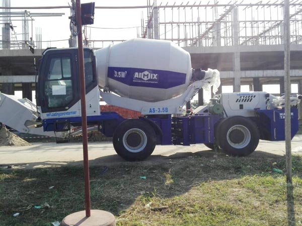 Aimix-self-loading-concrete-mixer-sent-to-Myanmar-1