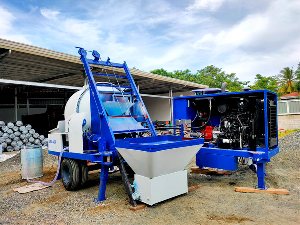 ABJ40C diesel concrete mixer pump in Philippines 1