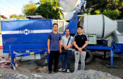 ABJ40C diesel concrete mixer pump in Philippines 2
