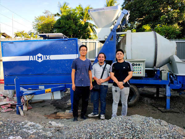 ABJ40C diesel concrete mixer pump in Philippines 2