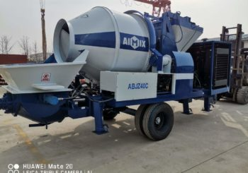 Aimix ABJZ40C Diesel Concrete Mixer Pump is Ready to Shanghai China
