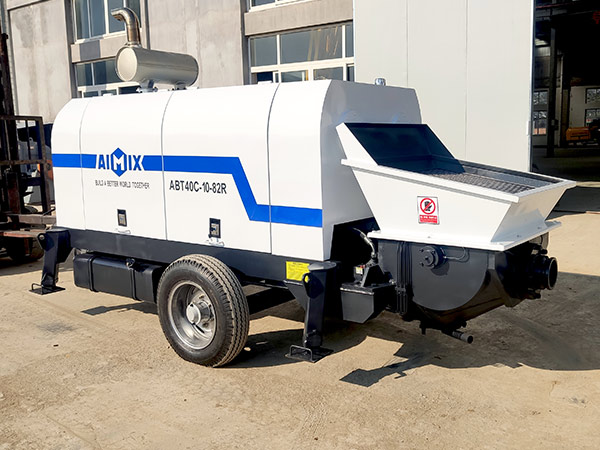 AIMIX abt40c diesel concrete pump sent to Jamaica 3