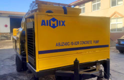 Aimix diesel concrete mixer pump ready to Malaysia 1