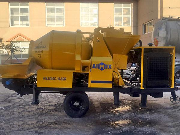 Aimix diesel concrete mixer pump ready to Malaysia 2