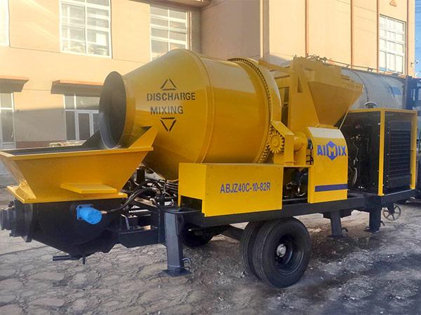 Aimix diesel concrete mixer pump ready to Malaysia 3