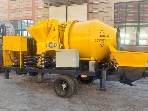 Aimix diesel concrete mixer pump ready to Malaysia 4