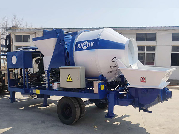 aimix concrete mixer pump sent to Indonesia 1