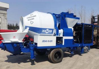 Aimix ABJZ40C Diesel Concrete Mixer Pump Was Sent to Indonesia