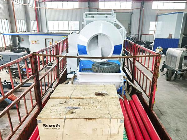 Aimix Concrete Mixer Pump Sent to Uzbekistan 5