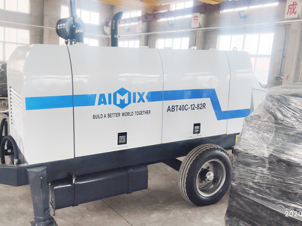 Aimix diesel concrete pump in Ukraine 1