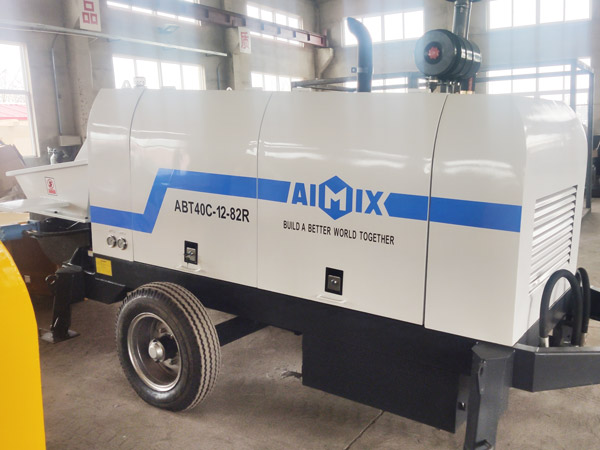 Aimix diesel concrete pump in Ukraine 3