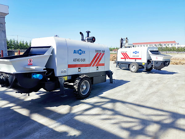 AIMIX ABT40C diesel concrete pump sent to Philippines
