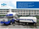 AIMIX Self Loading Concrete Mixer and Diesel Concrete Pump Start Working in Uzbekistan