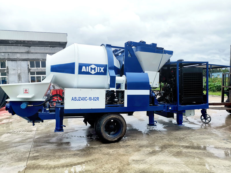 40CBM diesel concrete mixer pump sent to Philippines