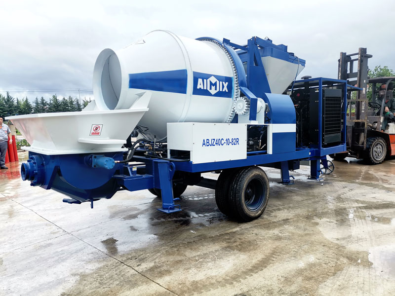 AIMIX 40CBM concrete mixer pump