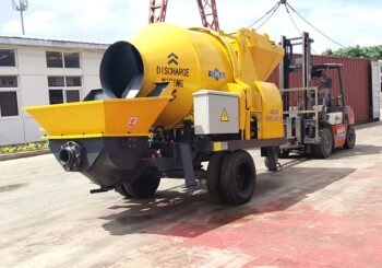 AIMIX ABJZ40D Concrete Mixer Pump Was Sent to Indonesia in July 2020