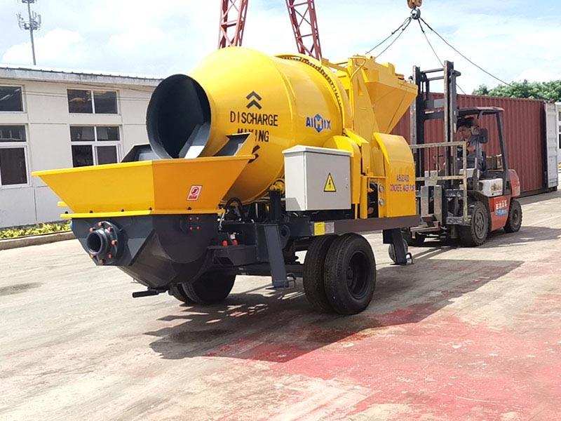 AIMIX 40cbm concrete mixer pump sent to Indonesia