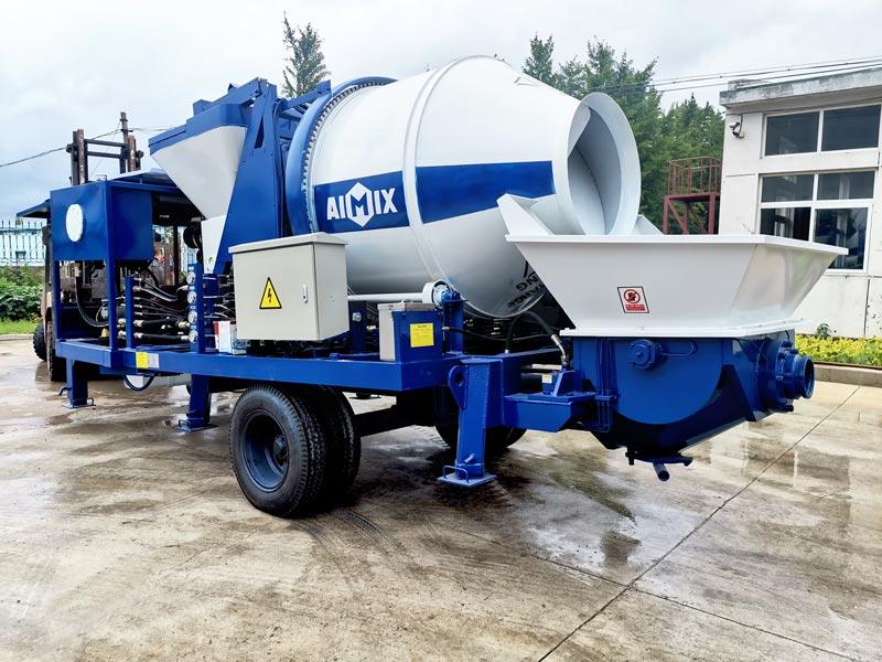 AIMIX diesel concrete mixer pump sent to Philippines