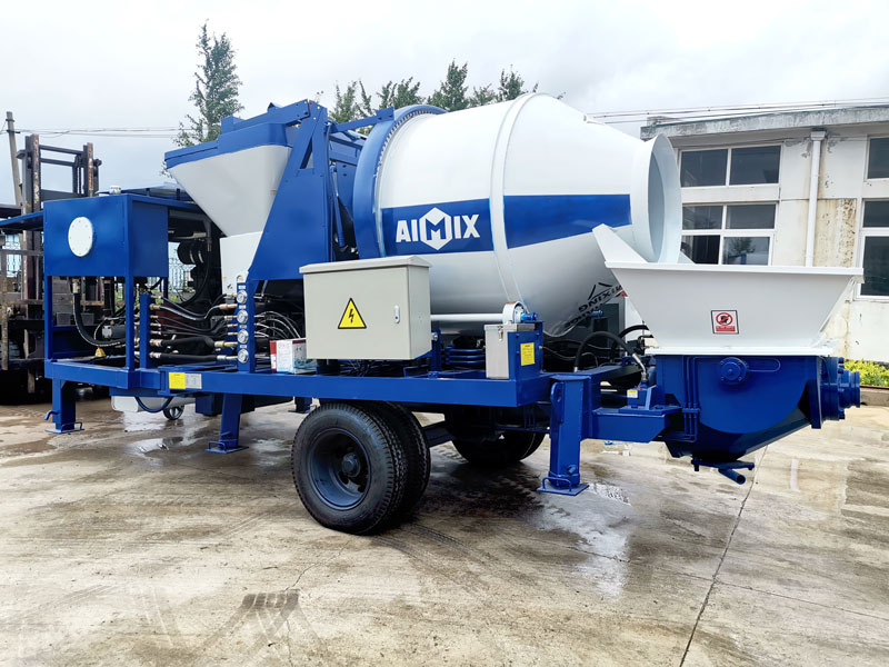 diesel concrete mixer pump sent to Philippines