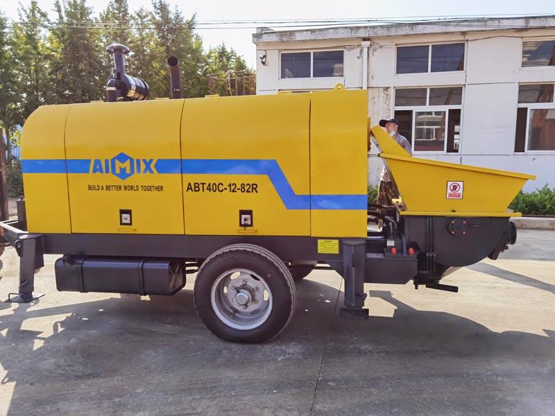 AIMIX ABT40C diesel concrete pump to Philippines