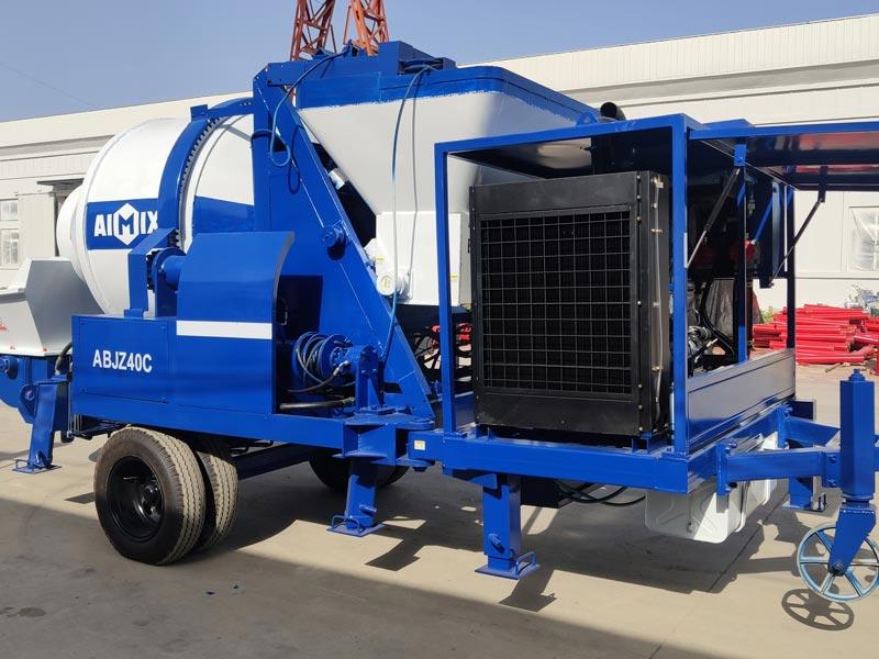 40 concrete mixer pump sent to Indonesia