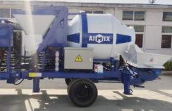 40 diesel concrete mixer pump sent to Indonesia